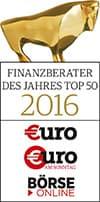Finanzberater des Jahres 2016 Top 50